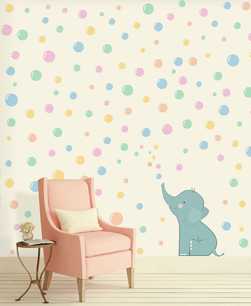 Gilberto carta da parati baby interior design wallpaper for Carta parati bambini