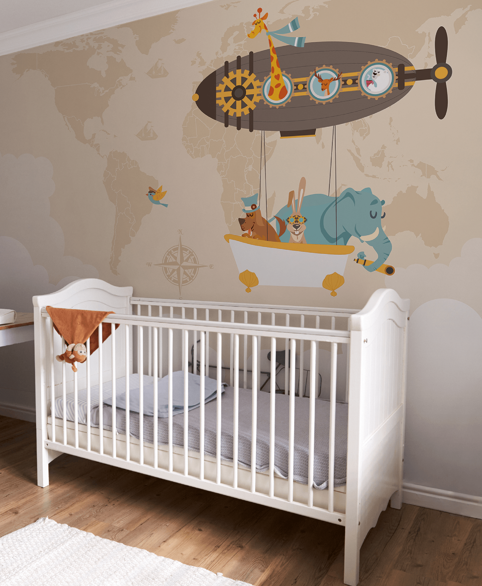 Carta Da Parati Per Camerette Neonati.Around The World Carta Da Parati Per Bambini Baby Design Wallpaper