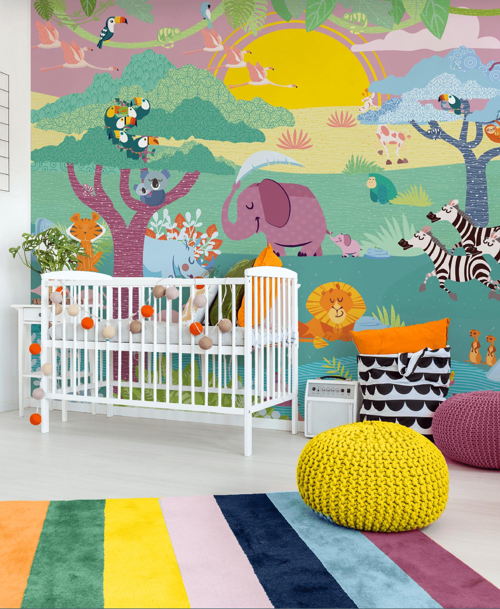 Il giardino delle meraviglie carta da parati baby interior design wallpaper - Il giardino delle meraviglie ...