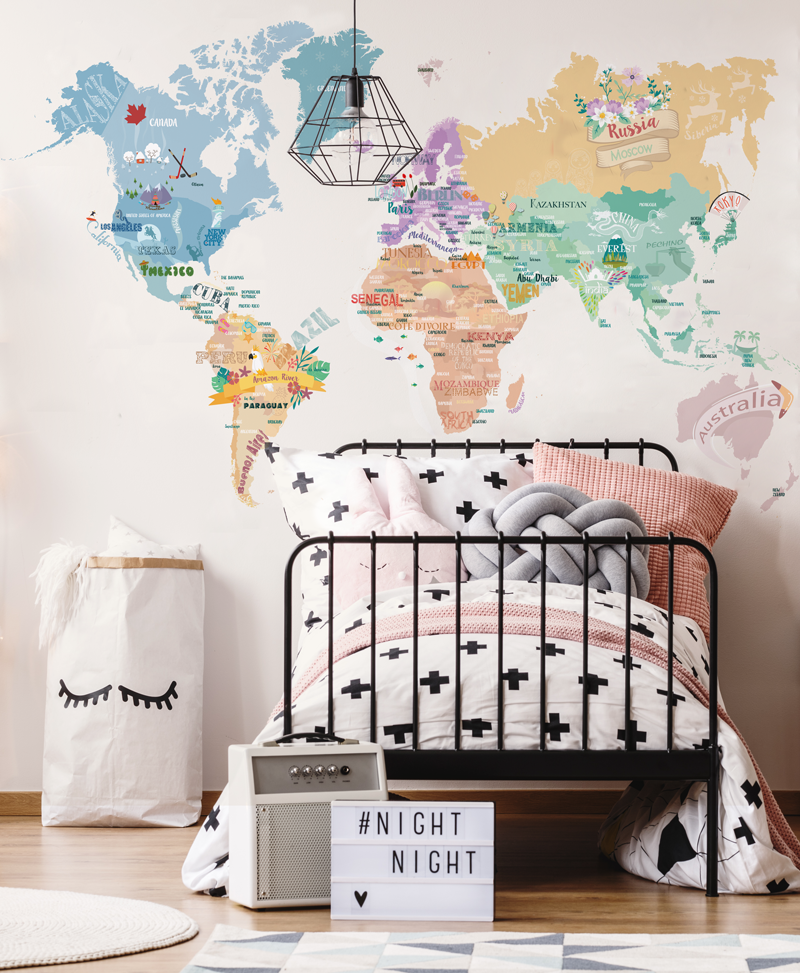Carta da parati per ragazzi baby interior design for Carta parati ragazzi